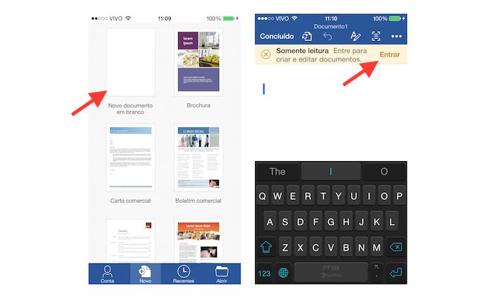 Acessando a página de login do Office no iOS (Foto: Reprodução/Marvin Costa)