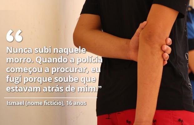 Ismael, nome fictício, 16 anos, condenado pelo crime de estupro coletivo em Castelo do Piauí (Foto: Fernando Brito/G1)