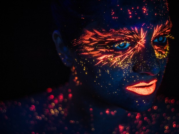Pintura é feita por maquiadores profissionais (Foto: Hid Saib/ Divulgação)