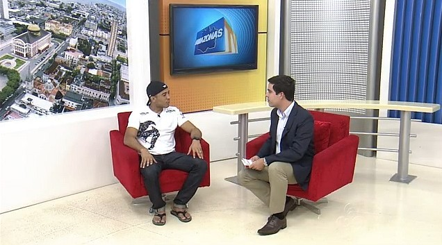 José Aldo em entrevista no Amazonas TV (Foto: Amazonas TV)