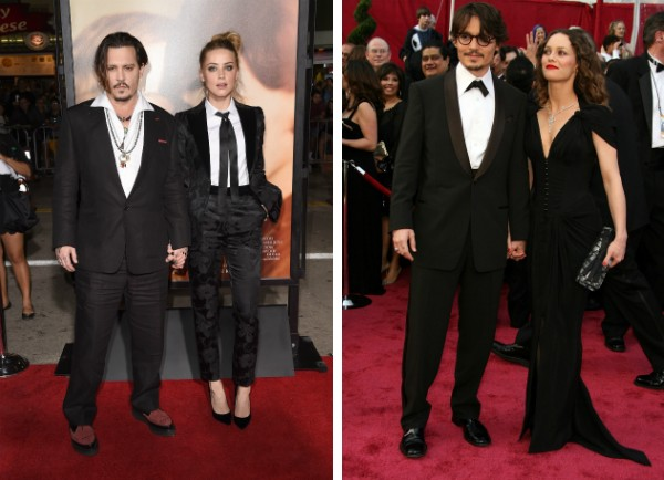 O ator Johnny Depp com Amber Heard e Vanessa Paradis (Foto: Getty Images)