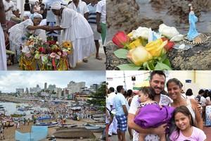 FOTOS: Rio Vermelho recebe devotos para homenagear Iemanjá (Arte/G1)