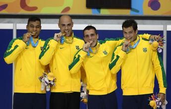 """Com EUA de olho, 4x100m livre do Brasil entra forte em Kazan: """"Na briga"""""""