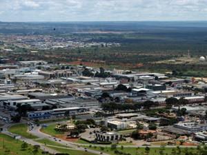 Vista aérea do Setor de Indústria e Abastecimento do Distrito Federal  (Foto: Agência Brasília)