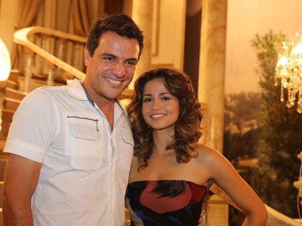 Rodrigo Lombardi e Nanda Costa, protagonistas de 'Salve Jorge' (Foto: Rodrigo Gorosito/G1)
