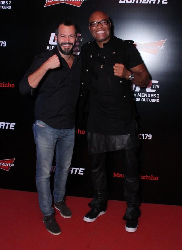 Malvino Salvador e Anderson Silva (Foto: Thyago Andrade/Foto Rio News)
