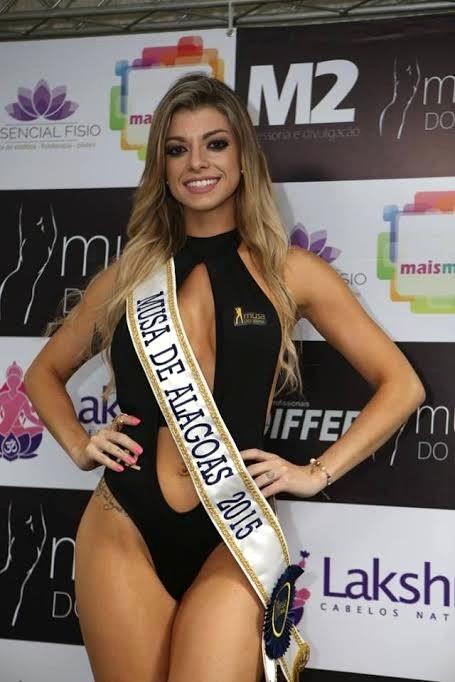 Thaís Pazeto durante o concurso Musa do Brasil (Foto: Divulgação)