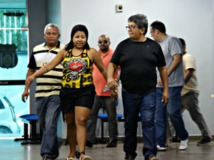 Karen Arevalo Marques também foi detida (Foto: Sérgio Rodrigues/G1 AM)