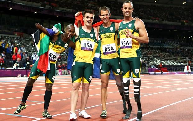 Oscar Pistorius, 4x100m Atletismo, Londres (Foto: Agência Getty Images)