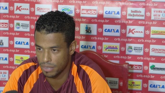 Marcelo Macedo, atacante do CRB (Foto: Denison Roma/GloboEsporte.com)