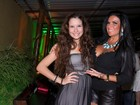 Solange Gomes leva a filha a festa de amigo