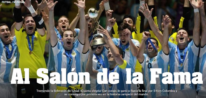 Argentina campeã futsal olé (Foto: Reprodução)