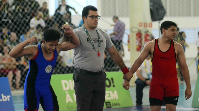 Amazonas Jogos Escolares da Juventude luta olímpica Ryan Souza (Foto: Mauro Neto/Sejel)