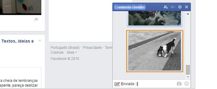 Envie o GIF pelo chat no Facebook (Foto: Reprodução/Barbara Mannara)