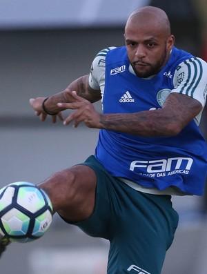 Felipe Melo em treino do Palmeiras em Belo Horizonte