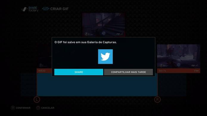 PS4 recebe função de criação de GIFs e montagens, veja como usar (Foto: Reprodução/Felipe Vinha)