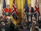 Trump recebe Theresa May para discutir acordos comerciais
