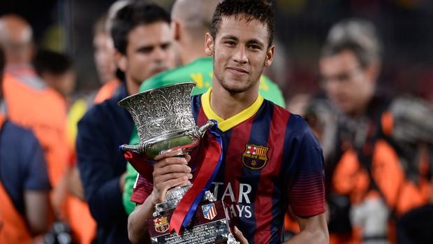 neymar taça barcelona x atletico madri (Foto: AP)