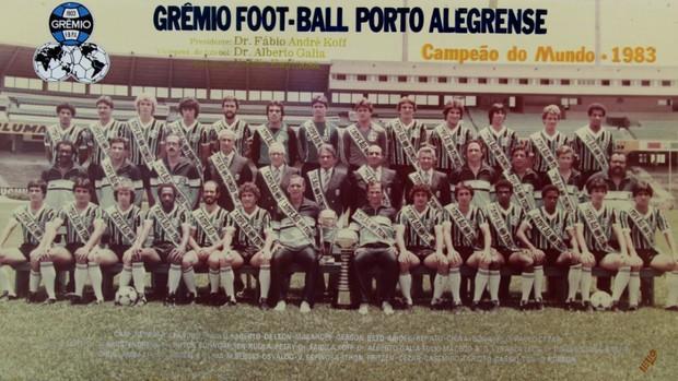 Poster do título mundial de 1983 é um dos itens a serem leiloados (Foto: Divulgação/Grêmio)