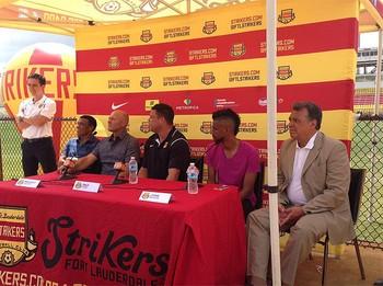 Leonardo Moura Ronaldo Lauderdale Strikers (Foto: Reprodução / Twitter)
