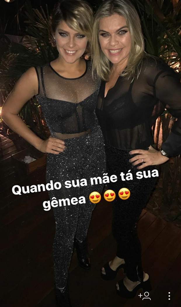 Isabella Santoni e a mãe, Ana Cristina (Foto: Reprodução/Instagram)