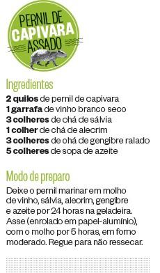 Pernil de capivara assado (Foto: ÉPOCA)