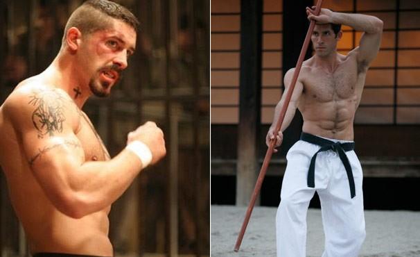 Scott Adkins nos filmes 'O Lutador' e 'Ninja' (Foto: Divulgação / Reprodução)