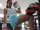 FOTOS: Confira o treino da Miss SP para desfilar pela Acadêmicos do Tucuruvi