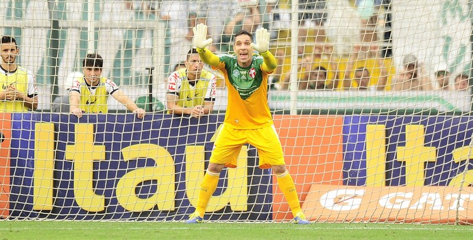 Fernando Prass Palmeiras x Corinthians (Foto: Marcos Ribolli)