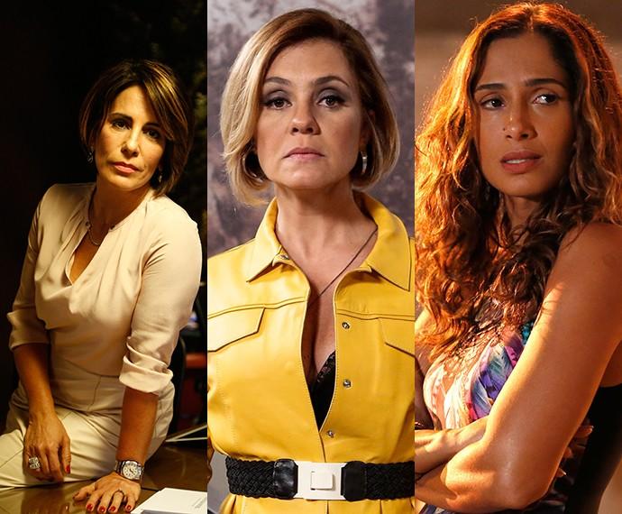 As três protagonistas: Beatriz, Inês e Regina (Foto: TV Globo)