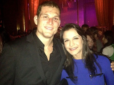 UFC roger gracie e kyra gracie festa (Foto: Evelyn Rodrigues)