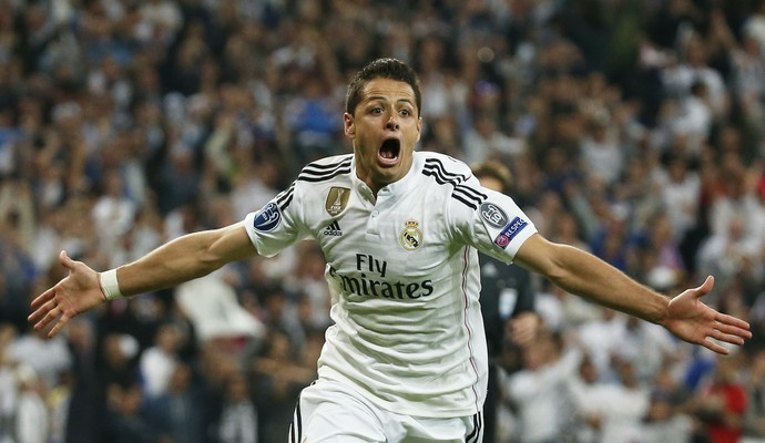 Chicharito gol Real Madrid x Atlético de Madrid (Foto: Reuters)