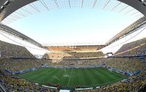 Brasil e Croácia Arena Corinthians Copa do Mundo (Foto: Agência AFP )