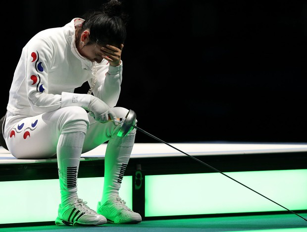 shin Lam coreia do sul esgrima londres 2012 olimpiadas (Foto: Agência Getty Images)