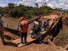 Afetada por enxurrada, cidade recebe R$ 4,5 milhões para reconstruir pontes