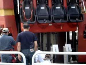 Brinquedo La Tour Eiffel, do parque de diversões Hopi Hari no dia do acidente (Foto: Reprodução EPTV)