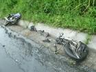 Acidente entre carro e moto deixa um morto na BR-153, no Paraná