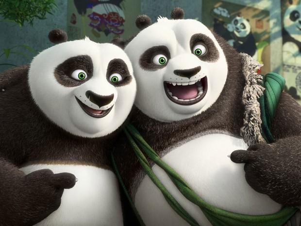 Cena da animação 'Kung Fu Panda 3' (Foto: (DreamWorks Animation via AP))