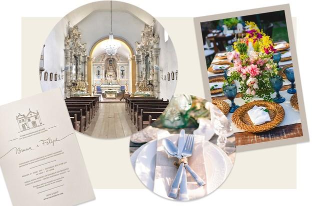 Mood board da decoração do casamento de Bruna Tenório (Foto: Arte Vogue Online)
