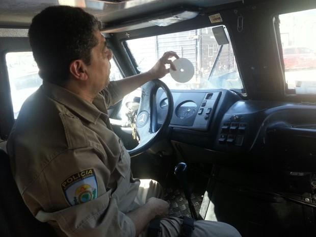 Carro da Blue Angels não tinha o disco do tacógrafo, segundo a PM; (Foto: Divulgação/Polícia Rodoviária Federal)