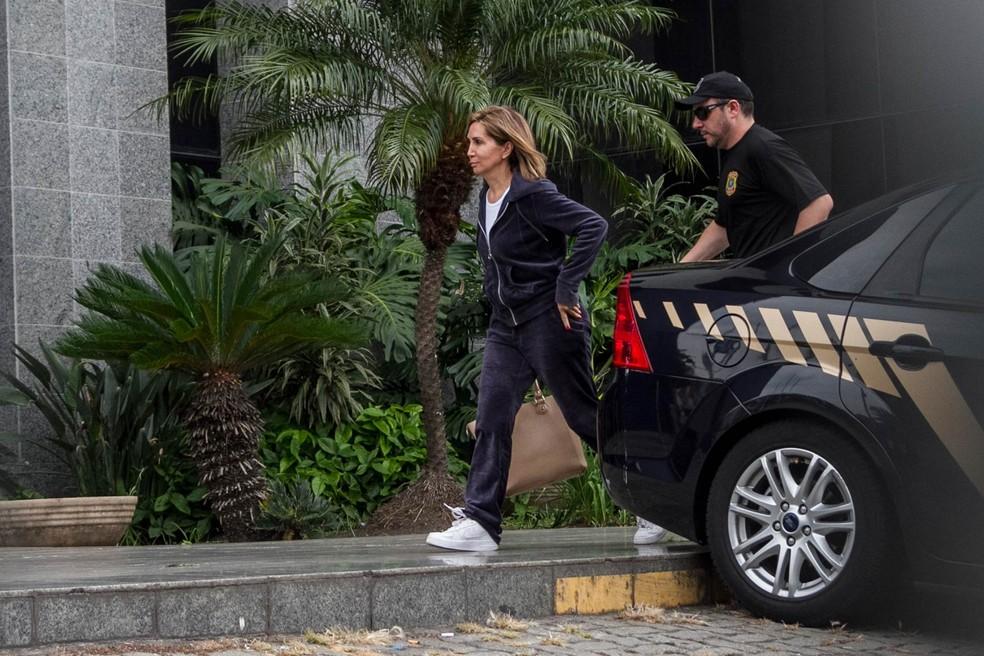 Em dezembro, Dárcy foi presa e levada à Superintendência da Polícia Federal de São Paulo  (Foto: Marivaldo Oliveira/Código19/Estadão Conteúdo)