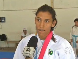 Judoca Michele Ferreira (Foto: Reprodu&#231;&#227;o/TV Morena)