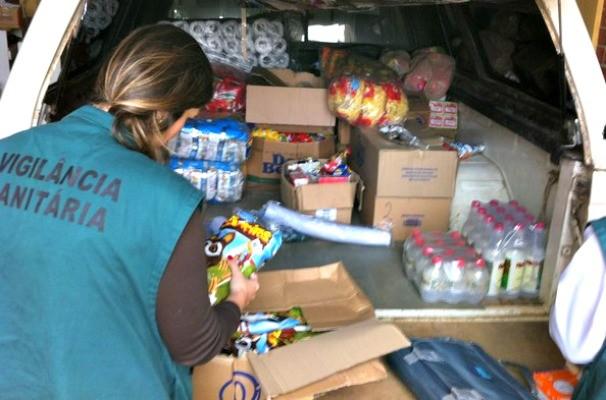 alimentos, vigilância sanitária, apreensão (Foto:  Giulia Perachi/RBS TV)