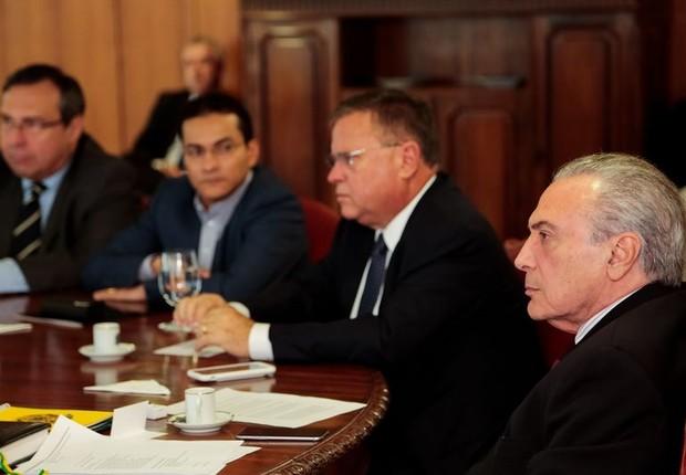 O presidente Michel Temer reúne gabinete para tomar medidas em relação a denúncias da Operação Carne Fraca (Foto: Marcos Correa/PR)
