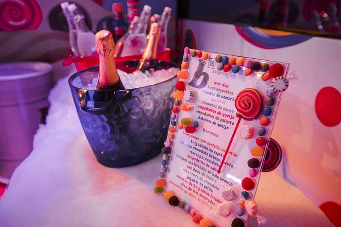 Cardápio da Festa Candy Crush (Foto: Raphael Dias / Gshow)