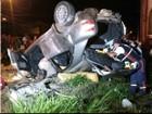 Acidente entre carro e caminhonete deixa três feridos em Ponta Grossa