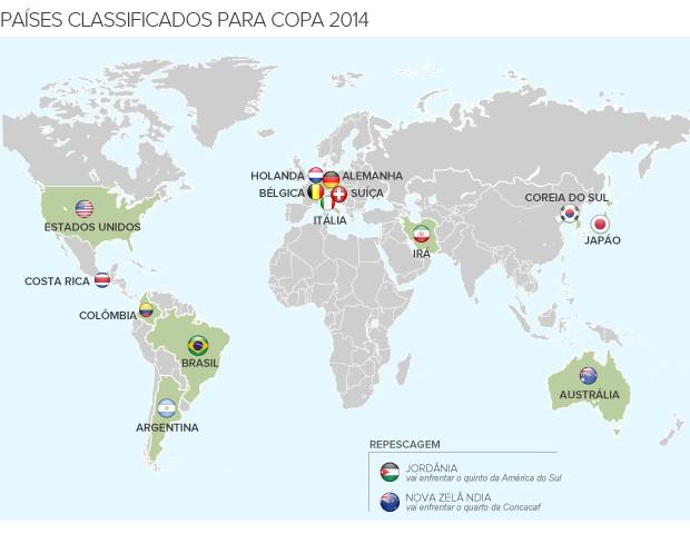 classificados copa 2014 - 3 (Foto: arte esporte)