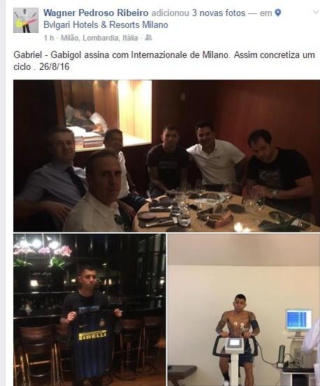 Gabigol assina com Inter de Milão (Foto: reprodução / Facebook)