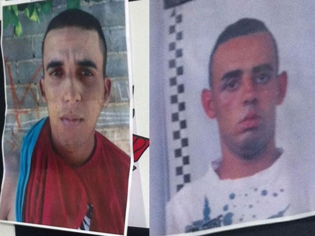 Thiago Santos de Almeida (dir.) e Wagner Rodrigues (esq.) são suspeitos de matar o policial militar Admilson Pereira de Oliveira no dia 7 de agosto, em Osasco (Foto: Glauco Araújo/G1)