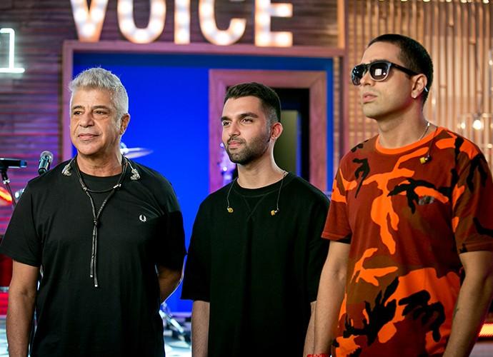 Lulu Santos se apresenta na Semifinal com Silva e o rapper Dom L (Foto: Isabella Pinheiro / Gshow)